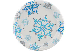 Smart Living Snowflake Swirls Plates - 8 CT