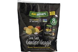 EatSmart Snacks Sea Salt Garden Vegetable Tomato, Potato & Spinach Crisps - 8 PK