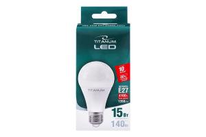 Лампа светодиодная Titanum LED A65 15W E27 4100K 1шт