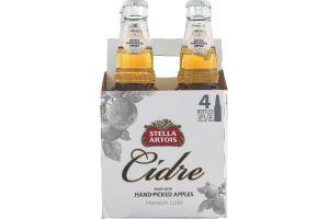Stella Artois Cidre Premium Hand-Picked Apple Cider - 4 CT