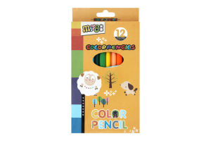 Набор карандашей цветных 12шт D-04