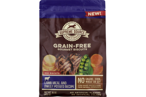 Supreme Source Dog Biscuits Grain-Free Gourmet Biscuits Lamb Meal & Sweet Potato Recipe