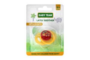 Пустышка латексная ортодонтическая 0+ №3200 Baby Team 1шт