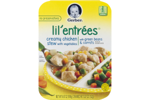 Gerber Lil' Entrees Creamy Chicken Stew with Vegetables with Green Beans & Carrots