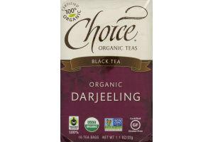 Choice Organic Teas Black Tea Organic Darjeeling Tea Bags - 16 CT