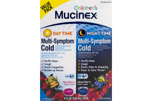 Mucinex Children's Day Time and Night Time Multi-Symptom Cold Very Berry and Mixed Berry