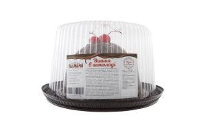 Торт комбінований Вишня в шоколаді Калачі п/у 900г