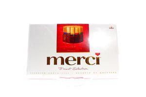 Конфеты ассорти 8 сортов шоколада Merci 400г