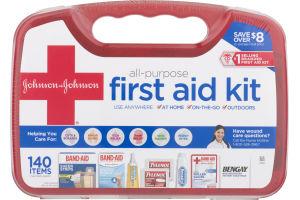 Johnson & Johnson All-Purpose First Aid Kit