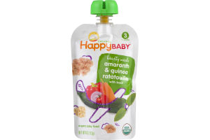 HappyBaby Organics Baby Food Hearty Meals 3 Amaranth & Quinoa Rataouille