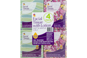 Ahold Facial Tissue with Lotion - 4 PK