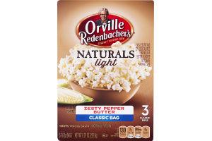 Orville Redenbacher's Natural Light Gourmet Popping Corn Zesty Pepper Butter Classic Bag - 3 CT