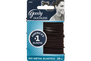 Goody Ouchless No Metal Elastics - 29 CT