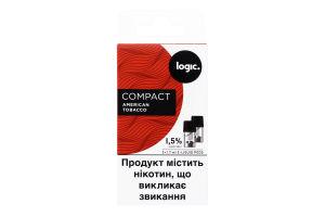 Картридж 1.5% American Tobacco Compact Logic 2шт