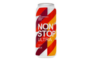 Напиток энергетический безалкогольный сильногазированный Ultra Non stop ж/б 500мл
