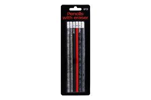 Набор карандашей с резинкой 6шт D1
