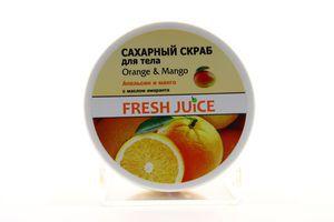 Скраб для тела сахарный Апельсин и манго Fresh Juice 225мл