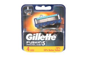 Картридж сменный для станка мужской Fusion ProGlide Gillette 4шт