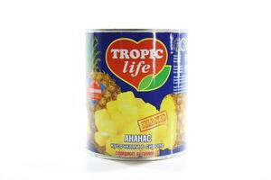 Ананас кусочками в сиропе Tropic life ж/б 836г