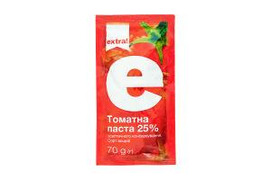 Томатная паста асептического консервирования 25% Extra! м/у 70г