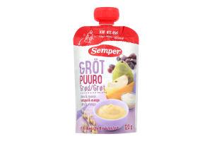 Пюре для детей от 6 месяцев каша мультизлаковая с фруктами Semper д/п 120г