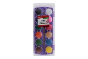 Краски акварель с кисточкой 12 цветов Y*1