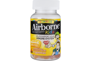 Airborne Kids Gummies Immune Support Supplement Assorted Fruit Flavors - 21 CT