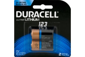 Duracell Ultra Lithium Batteries 123 - 2 CT