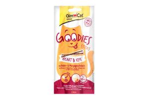 Ковбаски ГімКет Гудіс Харт енд Ай з куркою та смаком манго, для котів, 3х5г, 430058,Gimborn