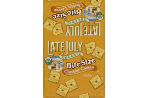 Late July Organic Bite Size Cracker Packs Cheddar Cheese - 8 CT