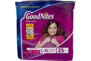 GoodNites Bedtime Pants Girls L-XL - 25 CT