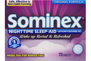 Sominex Nighttime Sleep-Aid Tablets - 72 CT