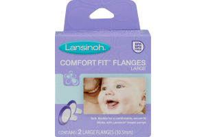 Lansinoh Comfort Fit Flanges Large - 2 CT