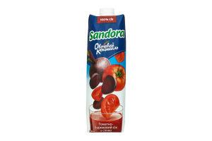 Сок томатно-свекольный с солью с мякотью Овощной коктейль Sandora т/п 0.95л