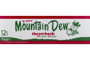 Mountain Dew Throwback Real Sugar - 12 PK