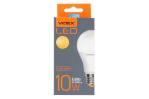 Лампа світлодіодна A60e 10W E27 3000K 220V Videx 1шт