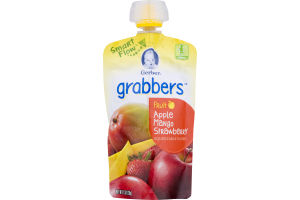 Gerber Grabbers Squeezable Puree Apple Mango Strawberry