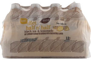 Smart Sense Diet Half n' Half Black Tea & Lemonade Bottles - 12 CT