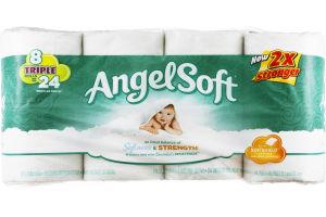 Angel Soft Bathroom Tissue Unscented - 8 CT