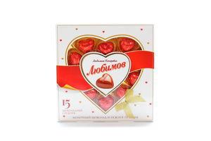 Конфеты молочный шоколад с ореховым пралине Любимов 125г