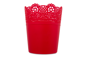 Горшок д/цвет Prosperplast Lace круг малинов 160мм