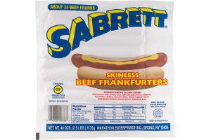 Sabrett Skinless Beef Frankfurters