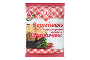 Вермишель быстрого приготовления со вкусом говядины неострая №1 м/у 65г