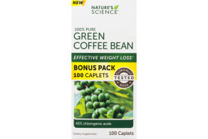 Nature's Science 100% Pure Green Coffee Bean - 100 CT