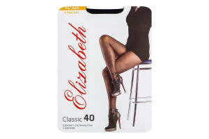 Колготки жіночі Elizabeth Classic 40den 4 nero