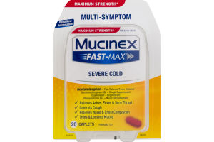 Mucinex Fast-Max Caplets Severe Cold - 20 CT