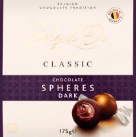 Цукерки шоколадні Сфери з чорного шоколаду Belgid'Or к/у 175г