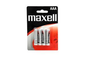 Батарейки ААА R03 Zinc Maxell 4шт