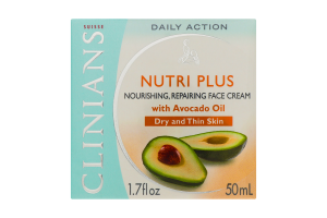 CLINIANS Крем інтенсивний поживний олія авокадо-масло каріте 50мл