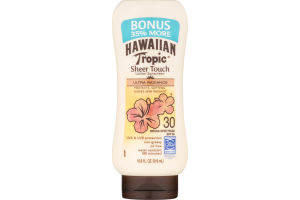 Hawaiian Tropic Sheer Touch Lotion Sunscreen SPF 30 Ultra Radiance